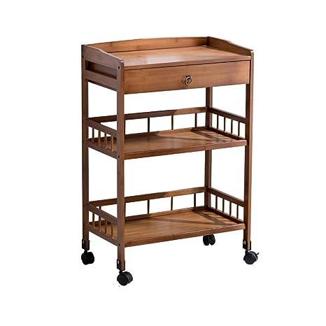 Amazon.com: HANSHAN mesa auxiliar extraíble mesa de té ...