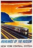 new york central system - 1930s Highlands of the Hudson New York Central System Vintage Railroad Travel Advertisement Poster Print. Measures 10 x 13.5 inches