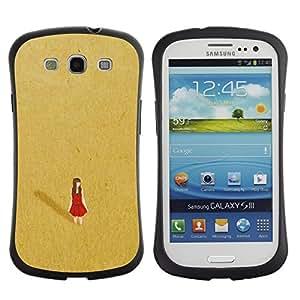 """Pulsar iFace Series Tpu silicona Carcasa Funda Case para SAMSUNG Galaxy S3 III / i9300 / i747 , El desierto rojo solo solitario vestido de Oro"""""""