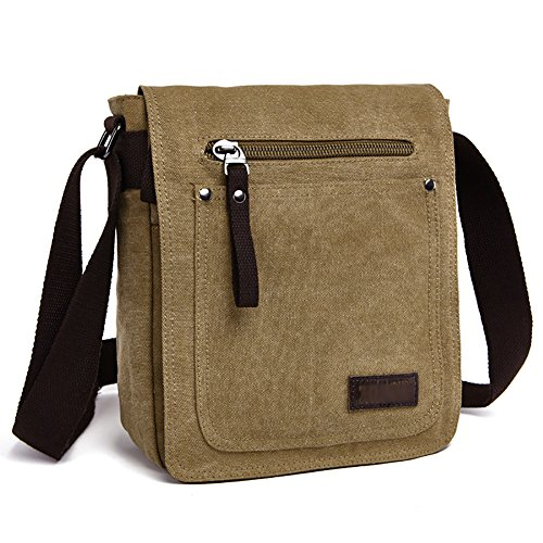 Casual Bags Khaki bestar Body Cross Bag Everyday Messenger Small Satchel E Briefcase Retro Shoulder Laptop Canvas Men's dgYqWwSA