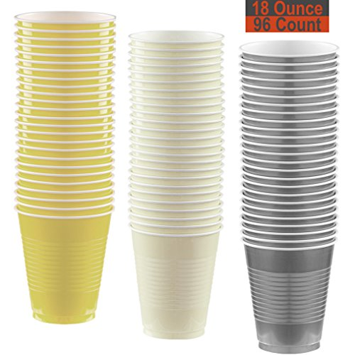 18 oz Party Cups, 96 Count - Light