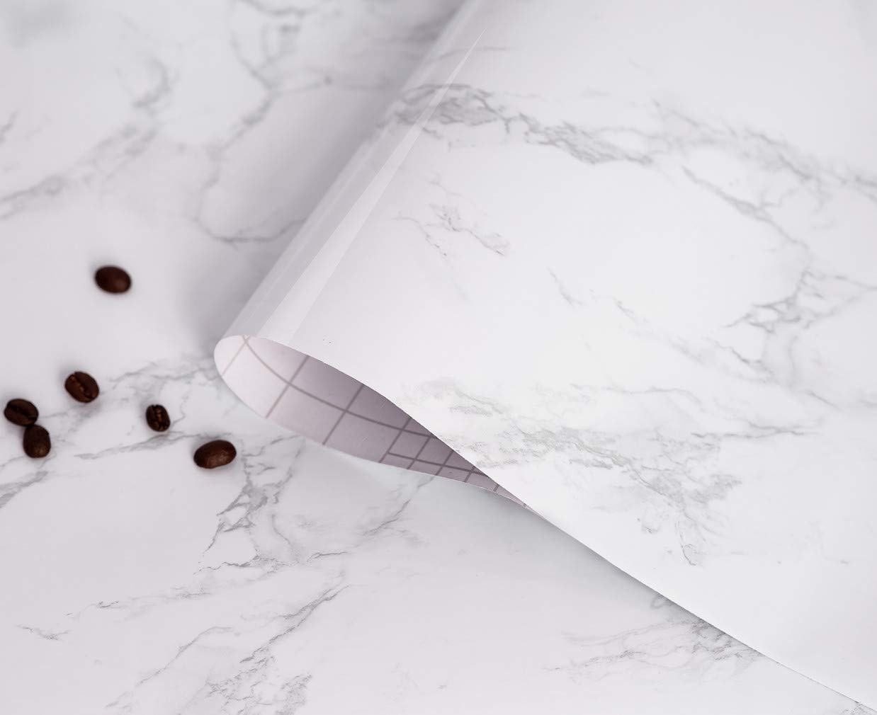 White Marble Contact Paper Thicken Waterproof Self Adhesive Contact