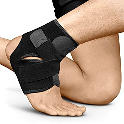 Bracoo Ankle Support, Compression Brace for Sport Injuries - Breathable Neoprene Sleeve for Pain Relief, Sprains, and Recovery S/M, L/XL