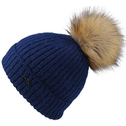 Durable Modelando Sombreros de niños Bobble Sombrero de Pom Pom Gorro de  punto de niñas angora ae4eac4efad