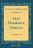 Amazon / Forgotten Books: Desirable Dahlias Classic Reprint (Cottage Grove Dahlia Gardens)