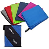 Zoegate Microfiber Travel Sports Towel (XXL 180x90cm, 120x60cm) Super Absorbent-Compact-Lightweight Fast Drying Picnic Outdoors Beach Bath Towel Suitable for Swimming,Diving,Beach,Camping,Hike,Cycling,Mountaineering, Gymnastics,Yoga