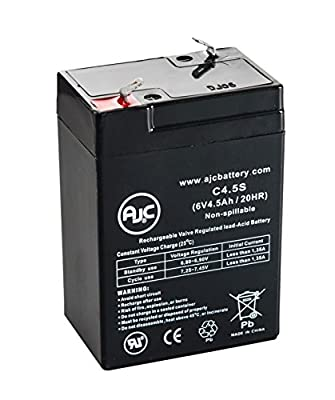Dual-Lite EZ-2-V 6V 4.5Ah Emergency Light Battery - This is an AJC Brand® Replacement