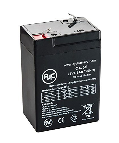 (HKbil 3FM4.5 6V 4.5Ah Sealed Lead Acid Battery - This is an AJC Brand Replacement)