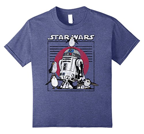 Star Wars Last Jedi Flock of Porgs Surround R2-D2 T-Shirt