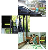 JHD 200FT Expandalble Garden Hose Water Pipe with 7 Modes Spray Gun