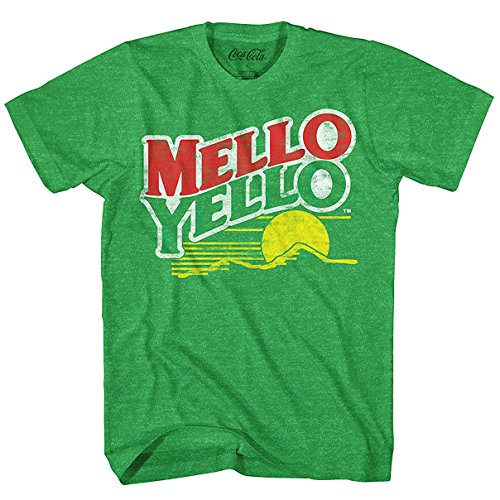 Mello Yello Soda Pop Drink Funny Classic Vintage Logo Men's Adult Graphic Tee T-Shirt (X-Large)