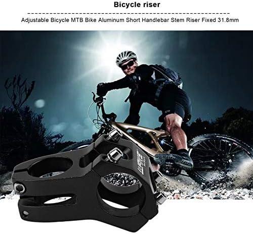 CloverUS Adjustable Bicycle MTB Bike Aluminum Short Handlebar Stem Riser Fixed 31.8mm