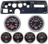 70-72 Chevelle SS Carbon Dash Carrier w/Auto Meter Sport Comp II Gauges