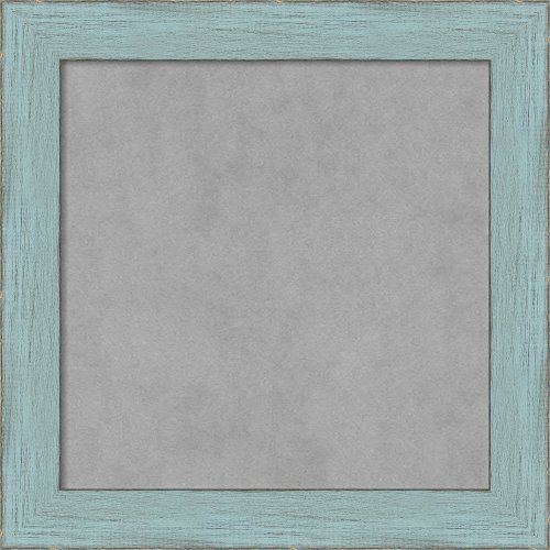 Amanti Art Sky Blue Rustic: Outer Size 15 x 15'' Framed Magnetic Board, Small Square by Amanti Art