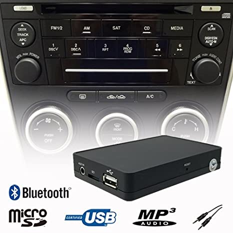Car Bluetooth USB SD AUX MP3 WMA Music Player CD Changer Adapter Interface For Mazda 2 BT-50//Ford Ranger