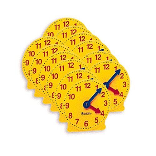 LEARNING RESOURCES EXTRA 4 GEARED MINI-CLOCKS 6/PK (Set of 3)