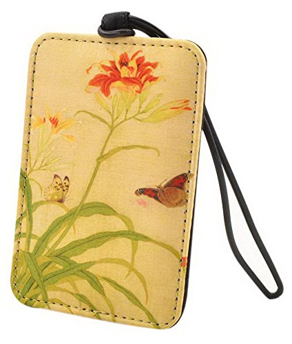 Gentle Meow Tourist Souvenir Silk Luggage Bag Tag Chinese Style Suitcase Tag Two Butterflies by Gentle Meow