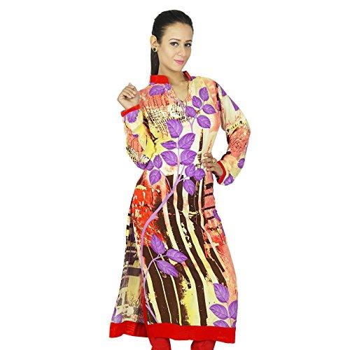 Étnica Kurti diseñador indio de Bollywood Mujeres Rayón Mejor Regalo Para Su vestido de la túnica Multicolor