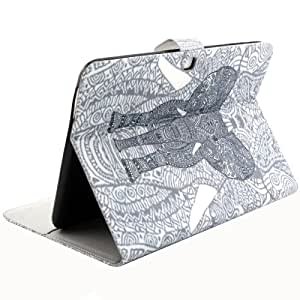 Elephant Pattern Horizontal Flip Leather funda case cover + Lápiz GRATIS con Holder & bolsillos internos & Wallet para Samsung Galaxy Tab 410.1/T530