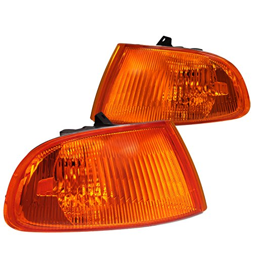 Spec-D Tuning LC-CV923AM-RS Honda Civic Dx Ex Lx 2/3Dr Signal Corner Lights Amber