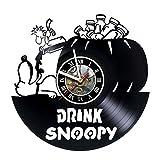 Best Woodstock Anniversary Gifts - artVoloshka Snoopy & Woodstock - Wall Clock Made Review