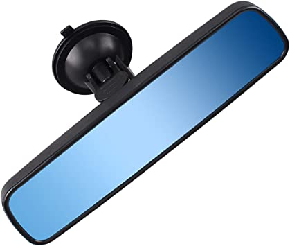 Large Car Mirror Rear View Suction Cup Interior Windscreen Adhesive Learner Driv