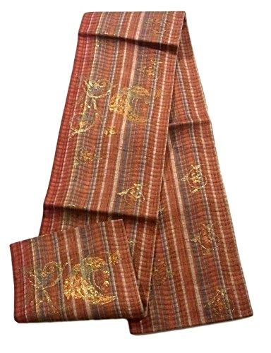 フォアマンプロテスタントドレスリサイクル 袋帯  櫛織 花鳥文 正絹