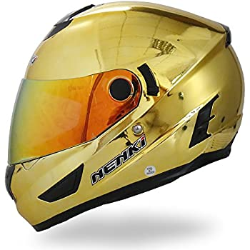 NENKI Helmets NK-852 Full Face Motorcycle Helmets Dot Approved With Dual Visors (Large