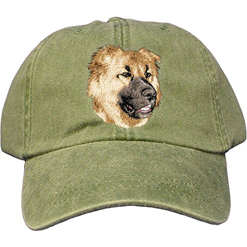 Cherrybrook Dog Breed Embroidered Adams Cotton Twill Caps - Spruce - Caucasian Mountain Dog