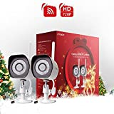Zmodo 2 Pack 720p High Definition WiFi IP Home Weatherproof Surveillance Security Camera System {Holiday Present Wrap}