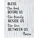 Bless the food before Us Wall art decor print Sign for livingroom entryway kitchen bedroom By Dayspring Milestones (Bless the food)
