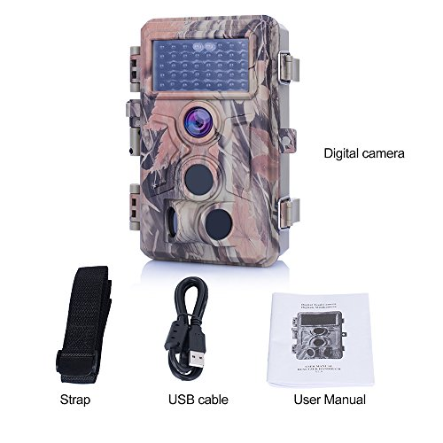 2018 NewTrail Camera 16MP Photo Full HD 1080P Video 24 LCD Color Screen GameHunting Camera 38 PCS No Glow IR LEDs Night Vision 02s Trigger Time IP66 Waterproof Protected Game Trail Cameras