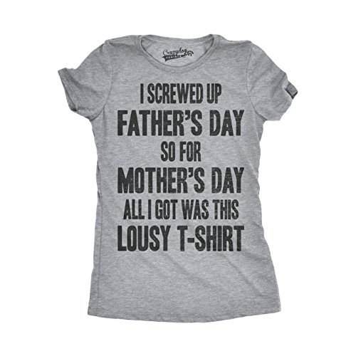 Crazy Dog TShirts - Womens Screwed Up For Fathers Day Funny Got This Shirt Mothers Day Gift T shirt - Camiseta Para Mujer