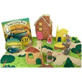 Pockets Of Learning Three Little Pigs Play Set with Matching Pop up Book and Read-along Cd By
