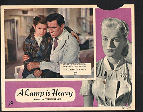 MOVIE POSTER: Lamp is Heavy Lobby Card-Diana Wynyard sitting on George Baker. (Diana Lamp)