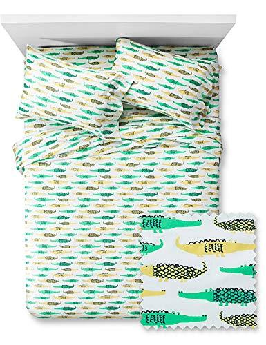 Pillowfort Crocodile Crossing Sheet Set, Twin