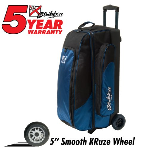 KR Strikeforce Smooth Triple Cruiser Roller Bowling Bag () by KR Strikeforce Bowling Bags