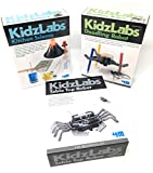 robotic arm engineering kit - KidzLabs Robot Toys Science Experiments for Kids, Kitchen Science, Table Top Robot, Doodling Robot - Science Kits for Kids - Robot - Robotics for Kids - Batteries/Screwdriver INCLUDED by 4M & MTGS