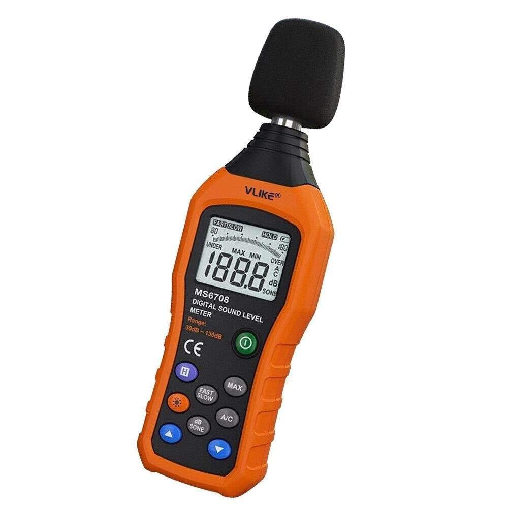 Moniteur de décibel de sonomètre de niveau sonore audio numérique LCD