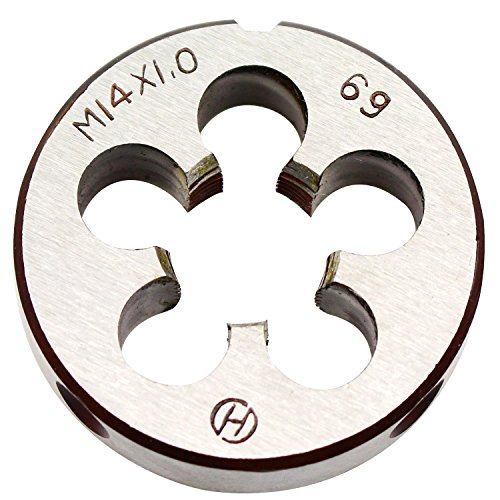 14mm X 1 Metric Right Hand Round Die, Machine Thread Die M14 X 1.0mm Pitch by KMIAN TOOLS