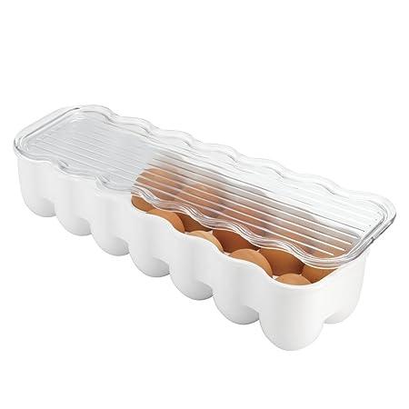 Box of 14 iDesign Fridge//Freeze Binz Egg Holder Medium BPA-Free Plastic Clear