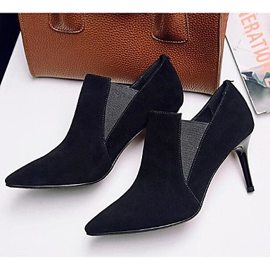 Black Boots Women's PU Chunky ggx Mary Winter LvYuan Casual Heel Jane vYTx5