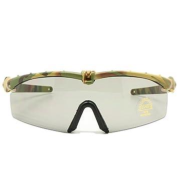 Gafas de Sol polarizadas Gafas de Militares del ejército los Hombres Frame 3/4 Lente Agencia de Juego de Guerra eyeshields(Marrón, 3 Lentes): Amazon.es: ...