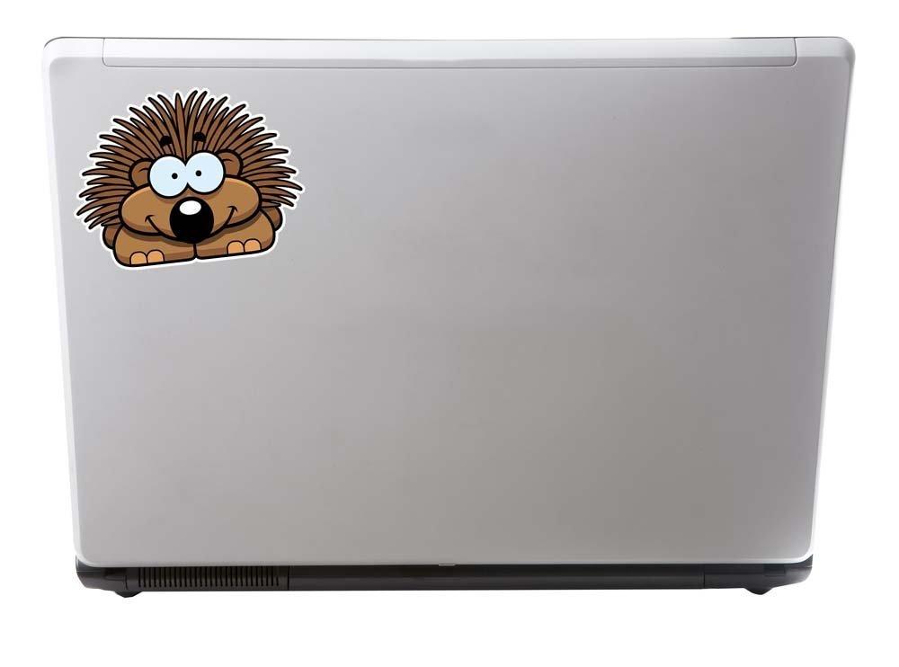 2 x Happy Hedgehog Vinyl Sticker Laptop Travel Luggage Car #6086