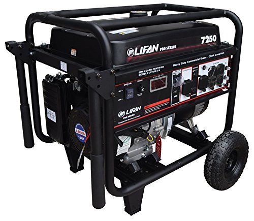Lifan LF7250-CA CARB Compliant Pro Series Generator 13MHP, Black