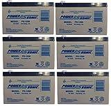 Power-Sonic - UB1290 F2 12V 9Ah APC SU700BX120 SU700NET UPS Battery - 6 Pack - PS-1290MP6165