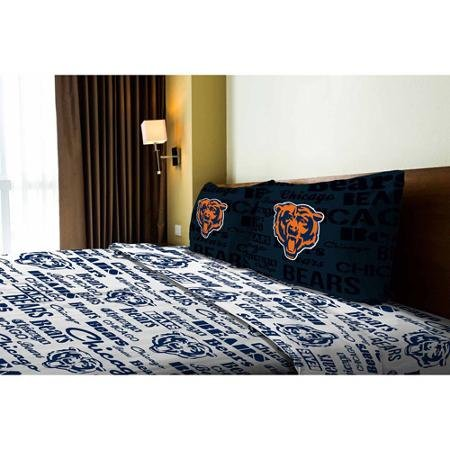 Chicago Sheet Full Set Bears (NFL Anthem Chicago Bears Bedding Sheet Set: Full)