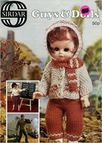 Guys Dolls Knit Doll Clothes Patterns Sirdar 117 No Author