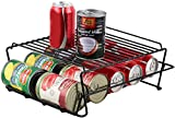 Neat-O Stylish Sturdy Steel Can Beverage Dispenser Rack Organizer, Black (Dispenser ++)