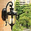 """S.orange17"""" Retro Victorian European Outdoor Wall lamp Aluminum Wall lamp Waterproof Anti-Rust Wall lamp Corridor Light GL0002"""